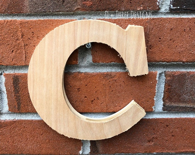 Wooden Individual Unfinished Wall Letters