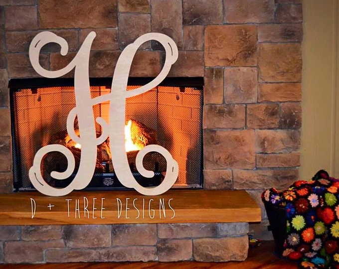 30 Inch Wooden Letters, Wooden Monogram Letter