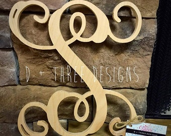 24 Inch Single Monogram Wooden Letter