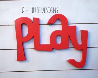 Wooden Playroom Sign // playroom decor // kids room decor