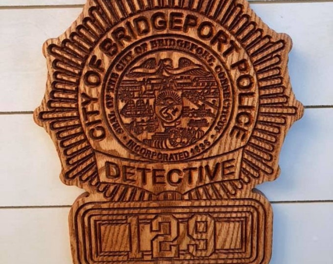 Detective Badge // Personalized Police Badge or Patch // Police Retirement // Police Gift
