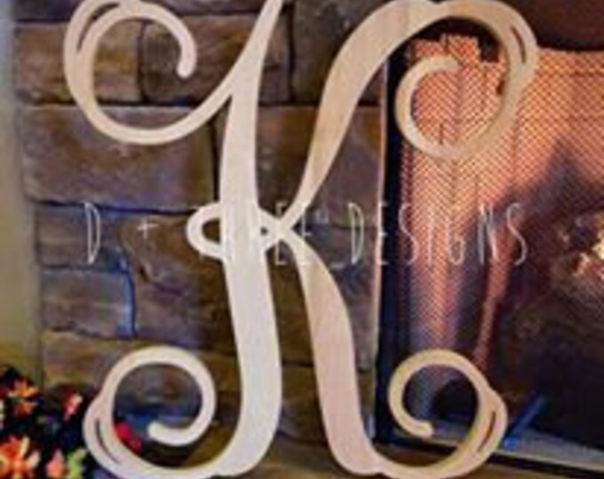 28 Inch Single Monogram, Wooden Letter, Monogram Letter, Monogram Initial, Single Wooden Letter