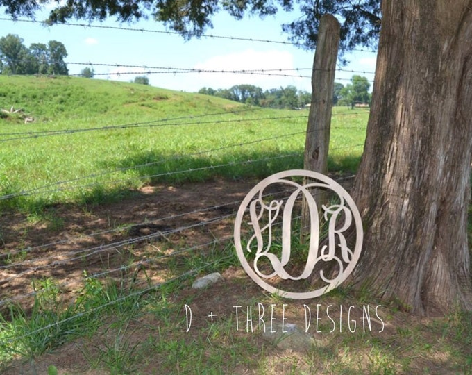 20 Inch Circle Wooden Monogram, Letters, Home Decor, Weddings, Nursery Letters, Ready to be painted!