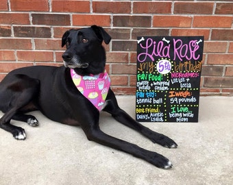 "HAND-PAINTED Custom Birthday Chalkboard Sign, Birthday Sign, Birthday Board, Wedding Sign, Photo Shoot Prop, Hand-Painted Sign (16x20"")"