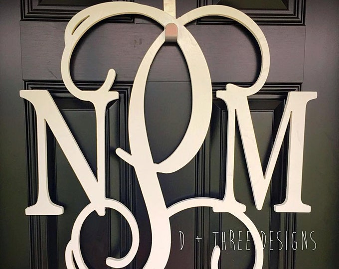 22 Inch Wooden Monogram Painted, Wooden Letters, Monogram, Home Decor, Nursery Letters, & More