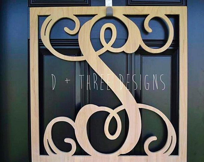 24 Inch Square Wooden Monogram, Letters, Home Decor, Weddings, Nursery Letters, Ready to be painted!