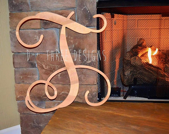 20 Inch Single Monogram Wooden Letter
