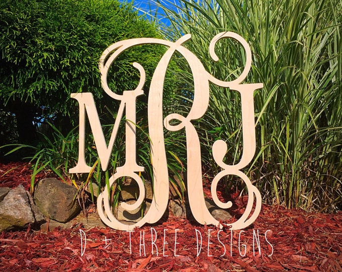 30 Inch Wooden Monogram, Letters, Home Decor, Weddings, Nursery Letters, Ready to be painted!