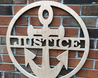 24 Inch Wooden Anchor // Anchor Decor // Nautical Decor // Anchors Away // Wooden Door Hanger