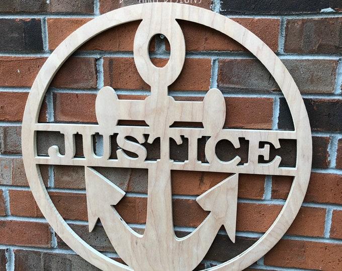24 Inch Wooden Anchor // Anchor Decor // Nautical Decor // Anchors Away // Wooden Door Hanger