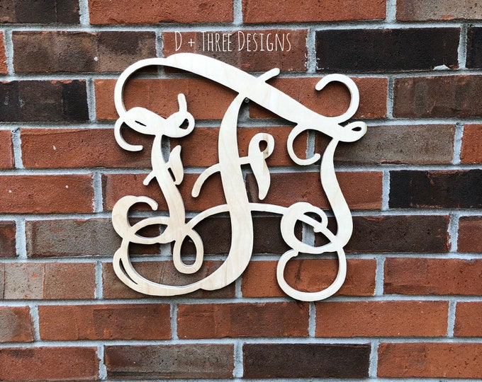 14 Inch Wooden Monogram, Letters, Home Decor, Weddings, Nursery Letters, Ready to be painted!