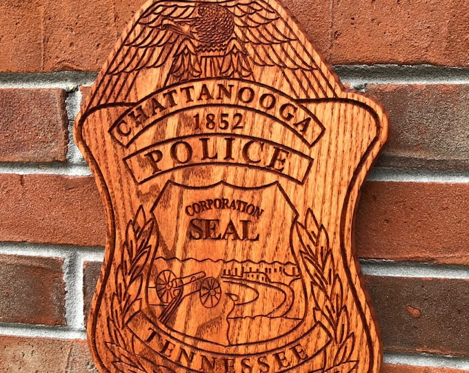 Chattanooga Police Badge // Your Agency Badge // Police Officer Wooden Badge