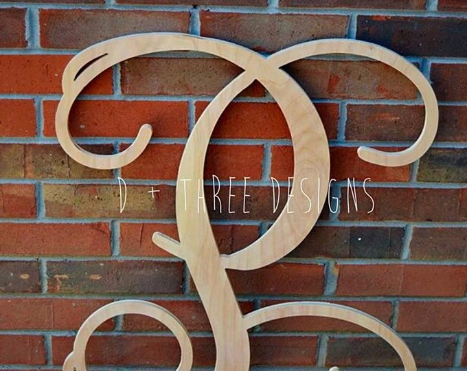 32 Inch Single Monogram Wooden Letter // Wooden Monogram // Large Nursery Decor // Ready to be painted