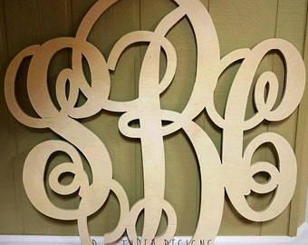 36 Inch Wooden Monogram, Letters, Home Decor, Weddings, Nursery Letters, Ready to be painted!
