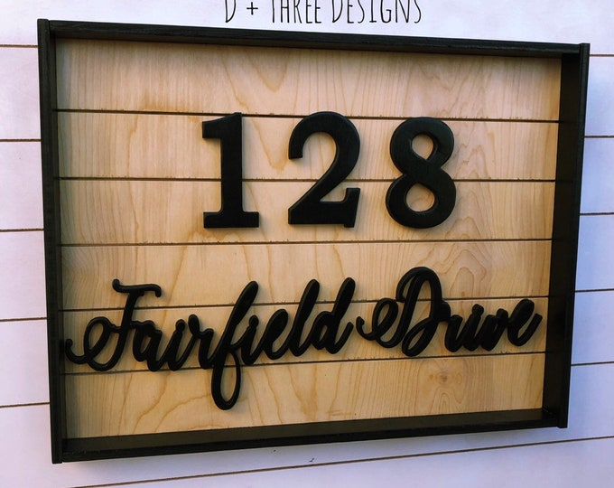 Rustic House Numbers | Farmhouse Address Sign | Modern House Number Sign | Reclaimed Wood Address Sign | Address Plaque