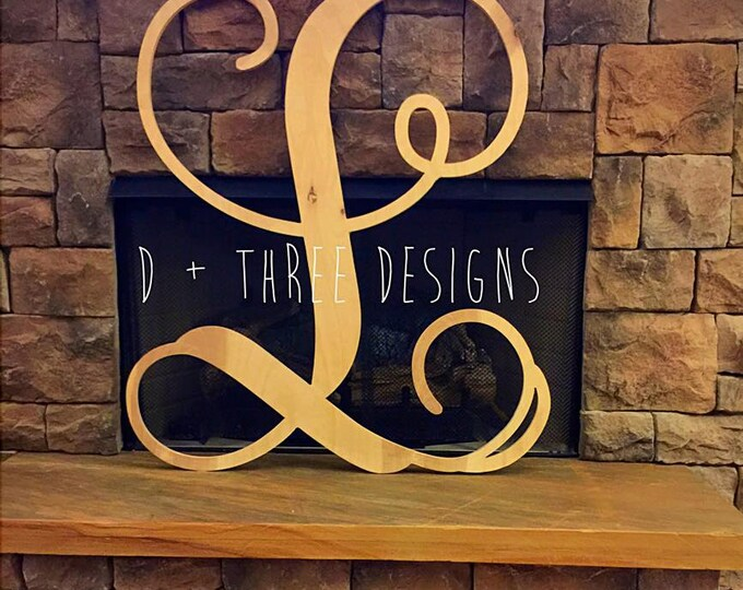 36 Inch Single Monogram Wooden Letter, Wood Monogram, Single Monogram