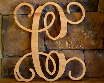 18 Inch Single Wooden Monogram Letter