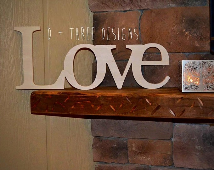 Love Sign, Wooden Letters, Home Decor, Wooden Phrase, Shelf Sign