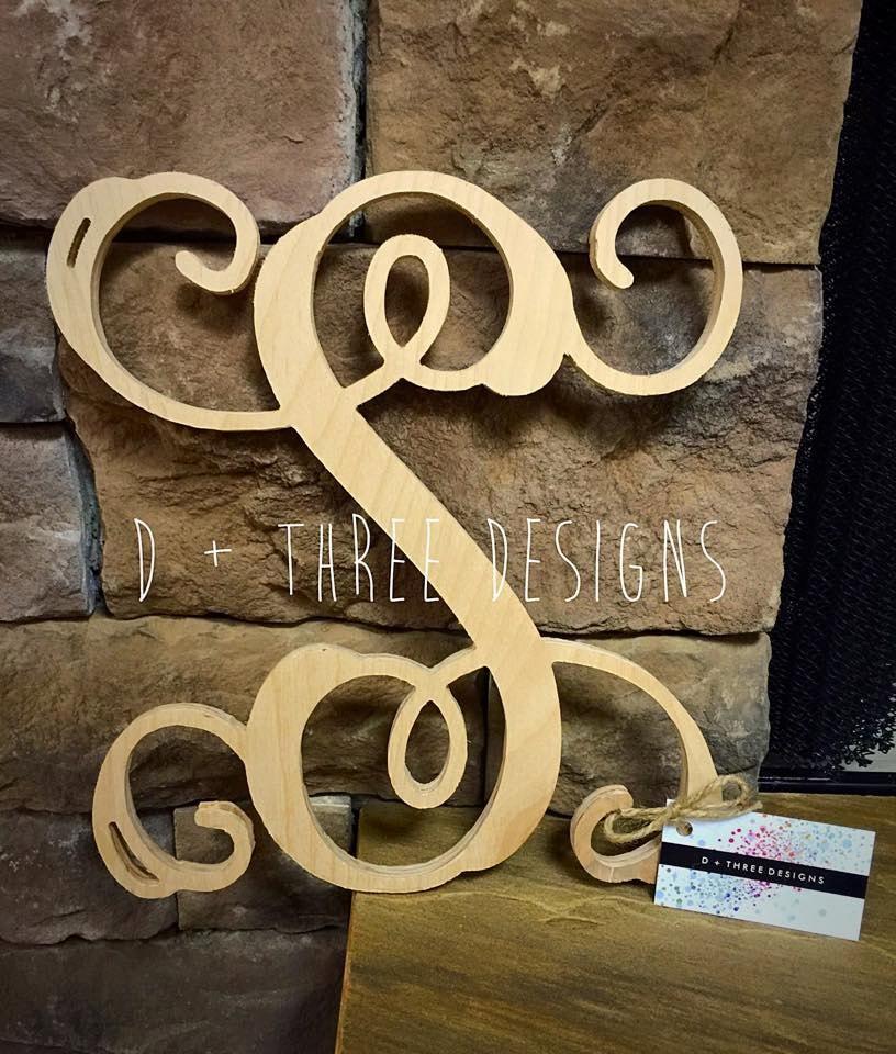 20 Inch Single Monogram Wooden Letter