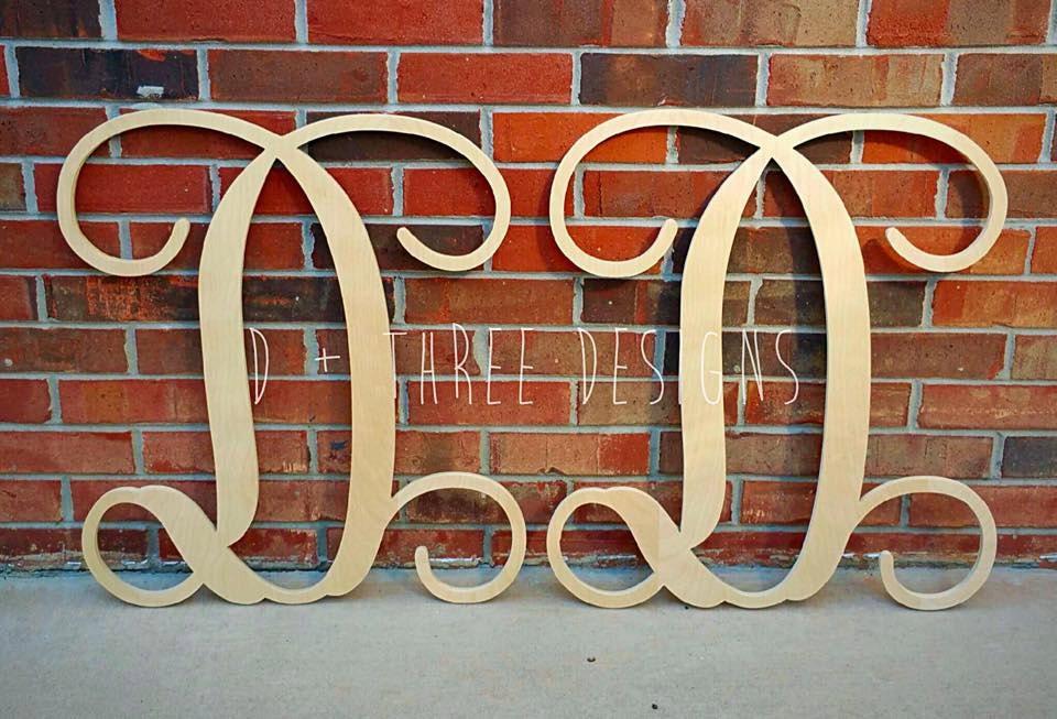 2 pack of 24 inch single monogram wooden letter wooden monogram wooden letters monogram letters