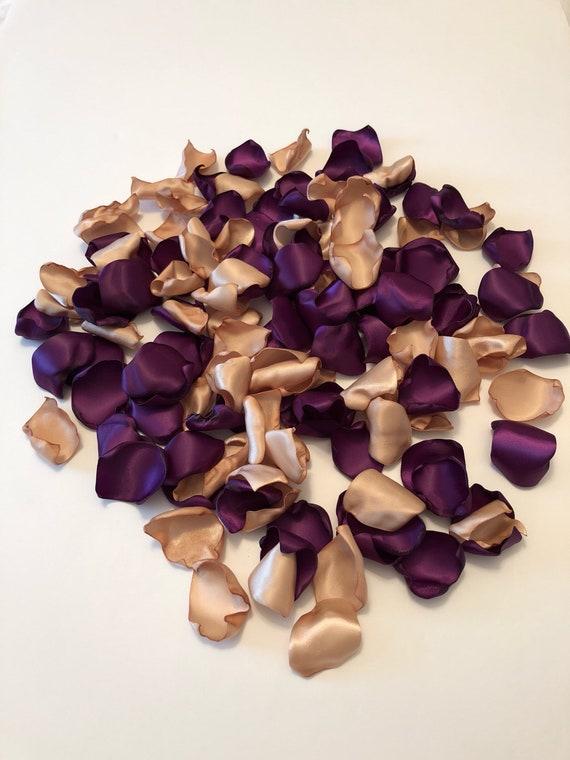 Plum Rose Petalsplum Wedding Decorpurple Petalsplum Etsy