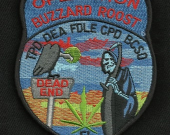 DEA Badge Logo Movies Iron Sew on Embroidered Patch applique UK Seller