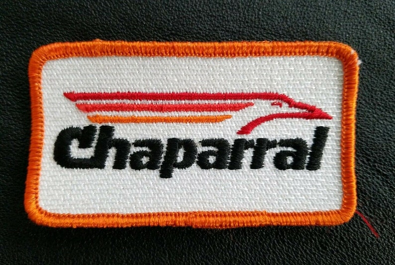 Chaparral - Vintage 70s Racing Sew On Collectors Patch ( Orange )