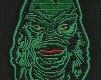 GREEN CREATURE CULT Classic Monster Movie Horror Film Rockabilly Patch