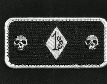 1%ER MC OUTLAW Death Skulls One Percenter Motorcycle Biker Patch