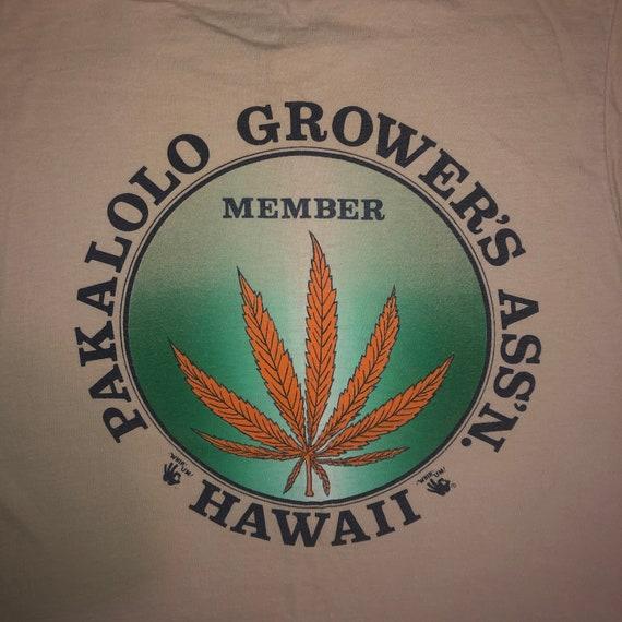 Vintage 1970s Pakalolo Hawaii Marijuana Growers T