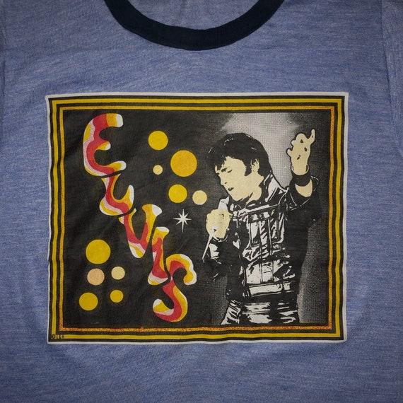 Vintage 1970s Elvis Presley Ringer T Shirt SMALL T