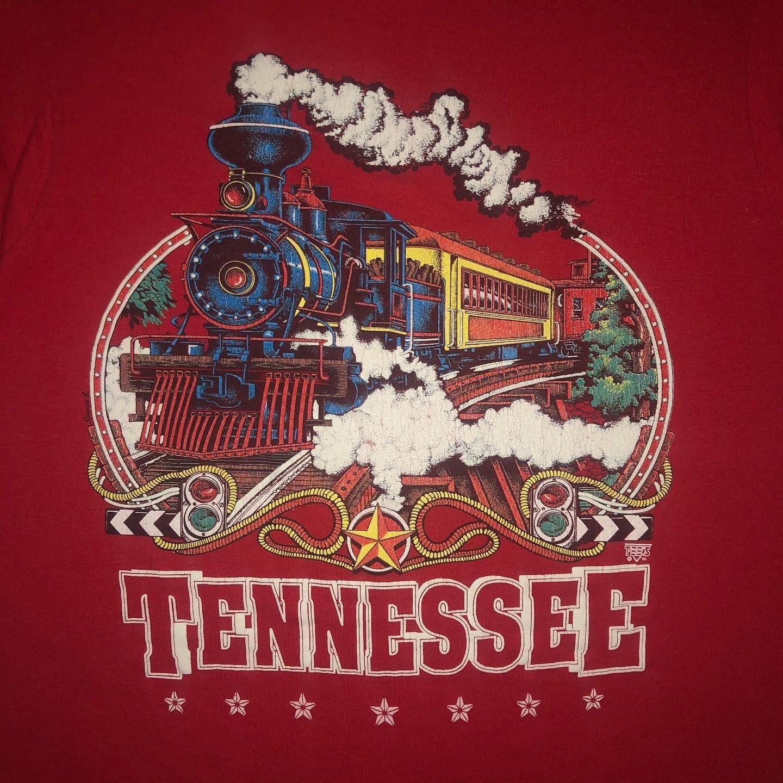 80s Tops, Shirts, T-shirts, Blouse   90s T-shirts Vintage 1980S Tennessee Tourist T Shirt Medium Steam Train Screen Stars Single Stitch $25.00 AT vintagedancer.com