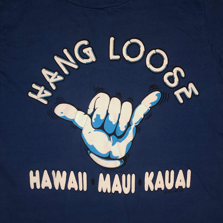 80s Tops, Shirts, T-shirts, Blouse   90s T-shirts Vintage 1980S Hang Loose Hawaii T Shirt Small Poly Tees Tourist Maui 80S Puffy Print $35.00 AT vintagedancer.com