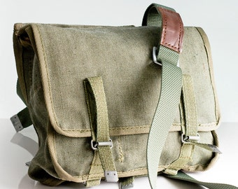 Messenger bag, Canvas bag, Military bag, Army bag, Vintage military bag, School bag, Military accessory, Bag, Old military bag, Student bag,