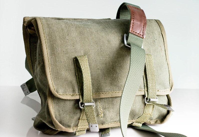 Messenger bag Canvas bag Military bag Army bag Vintage image 1