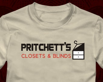 f589639d PRITCHETT'S CLOSETS & BLINDS Logo - T-Shirt in many color options - adult  mens/unisex shirts - Modern Family phil jay claire gloria mitchell