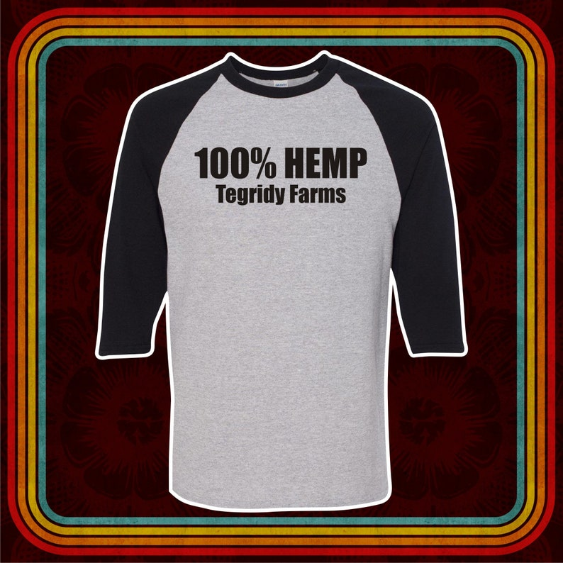 cacc3344 100% HEMP TEGRIDY FARMS T-shirt adult Premium Ringers | Etsy