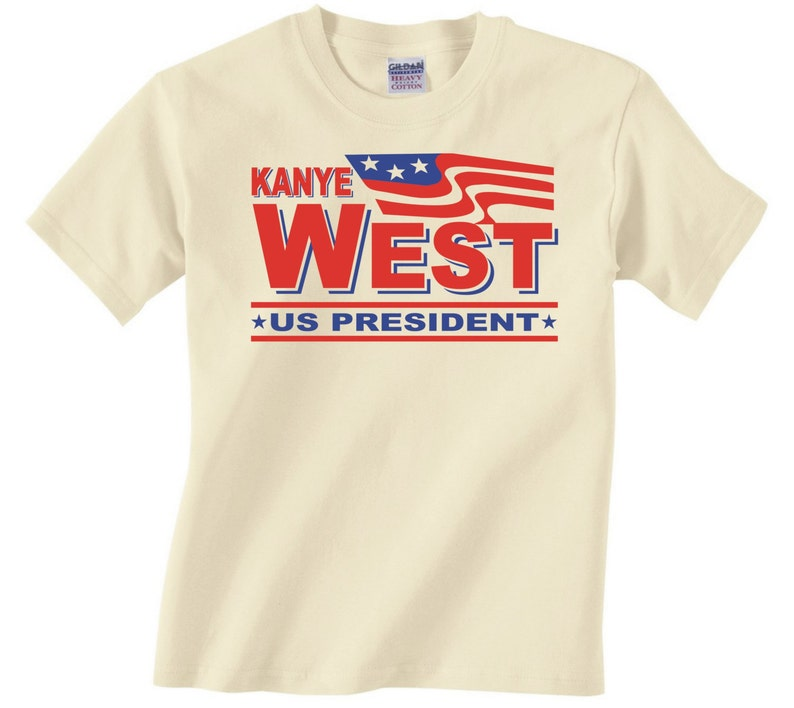d04c0b43 Kanye West US PRESIDENT Funny Adult Graphic T Shirt flag | Etsy