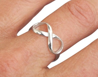 Sterling Silver Ring, Silver Infinity Ring, Silver Ring, Silver Band Ring, Symbol Rings, Friendship ring, Promise Ring, Spiritual Jewelry