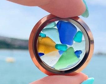 Sea glass jewelry Unique Gift for Her Unique Birthday gift for women Gift for sister Gift for mom Seaglass necklace