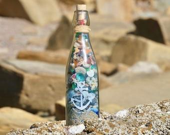 Beach Treasure Beach house decor Christmas gifts idea Gift for women Beach bottle Ocean decorations Beach lovers gifts