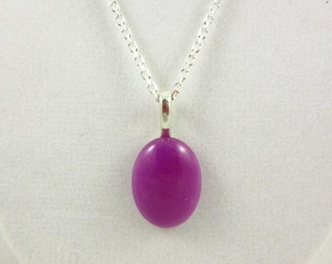 Purple Agate Pendant/Pendant Necklace/Handmade Pendant/Silver Necklace/Custom Necklace/Agate Jewelry/Custom Jewelry/Modern Jewelry