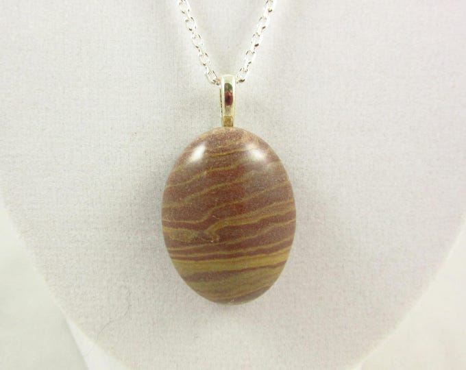 Brown Agate Pendant/Agate Necklace/Pendant Necklace/Handmade Pendant/Silver Necklace/Agate Jewelry/Modern Jewelry/Custom Jewelry