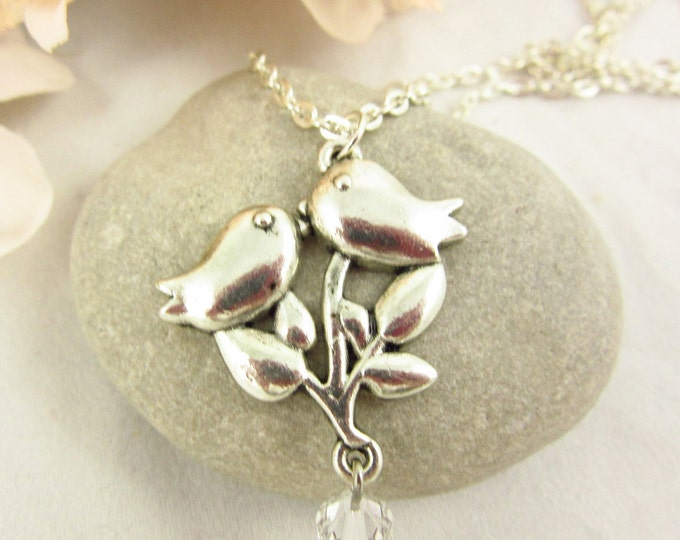 Silver Bird Pendant Necklace/Custom Necklace/Handmade Necklace/Teen Necklace/Girls Necklace/Teen Jewelry/Girls Jewelry/Gift for Her