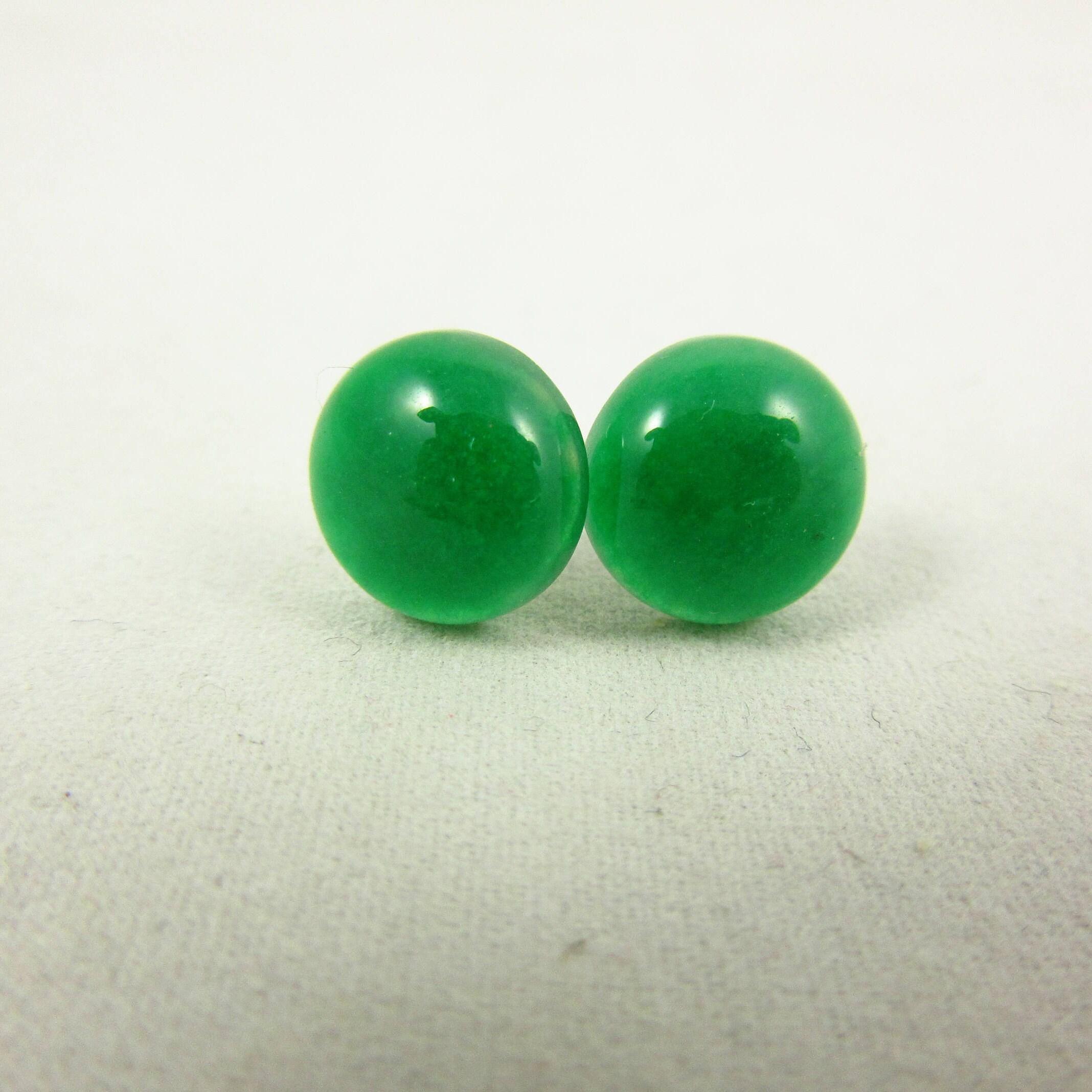 7e140b04b Green Aventurine Earrings/Stud Earrings/Silver Earrings/Handmade Earrings/ Aventurine Jewelry/Modern Jewelry/Simple Earrings/Small Earrings