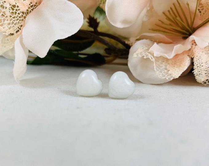 White Mountain Jade* Earrings/Stud Earrings/Sterling Earrings/Handmade Earrings/Simple Jewelry/Modern Jewelry/Simple Earrings/Small Earrings