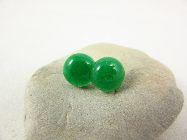8e7af8541 Green Aventurine Earrings/Stud Earrings/Silver Earrings/Handmade ...