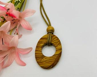 Tigerskin Jasper Choker, Handmade Tan Cord Choker, 15inch Choker, Boho Jewelry