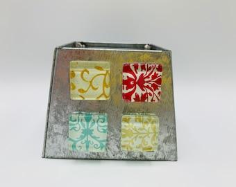 Glass Magnets/Refrigerator Magnets/Magnet Set/Work Board Magnets/Handmade Magnets/Small Gift/Set of 4 Magnets