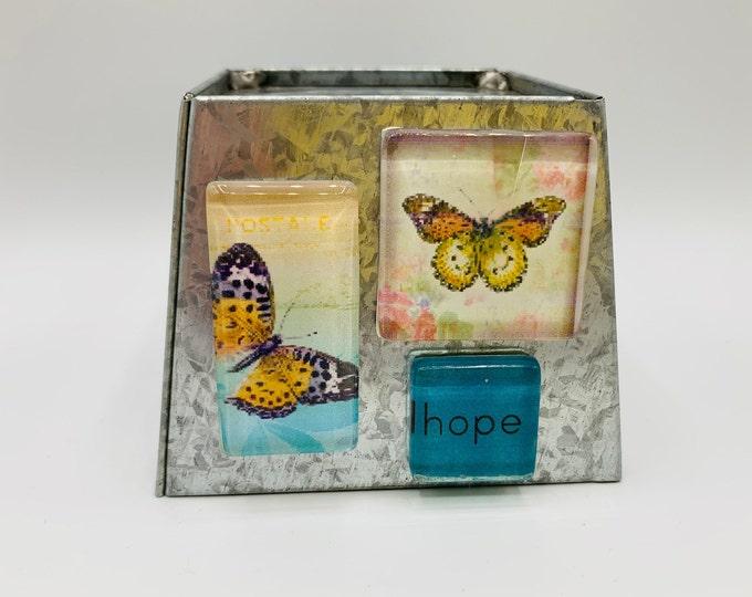 Glass Magnets/Refrigerator Magnets/Magnet Set/Work Board Magnets/Handmade Magnets/Small Gift/Set of 3 Magnets